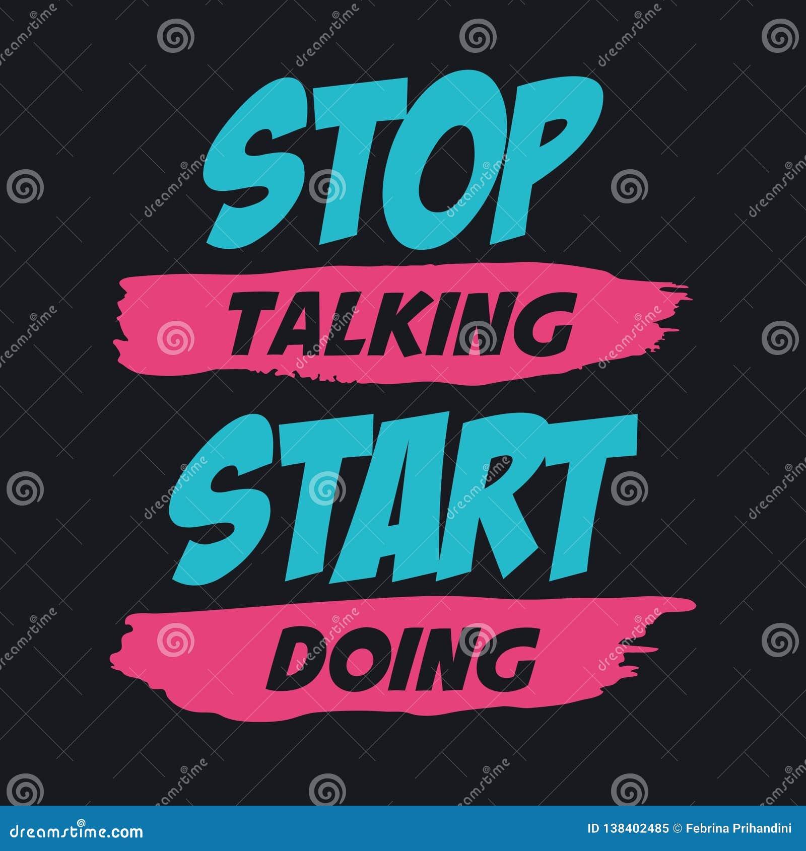 Pare de falar fazer do começo