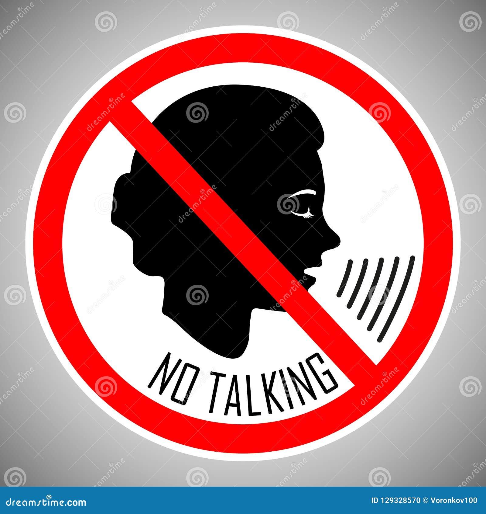 Pare de falar Nenhuma fala Nenhum ruído O conceito do ícone é o comportamento apropriado dos povos neste lugar Vetor