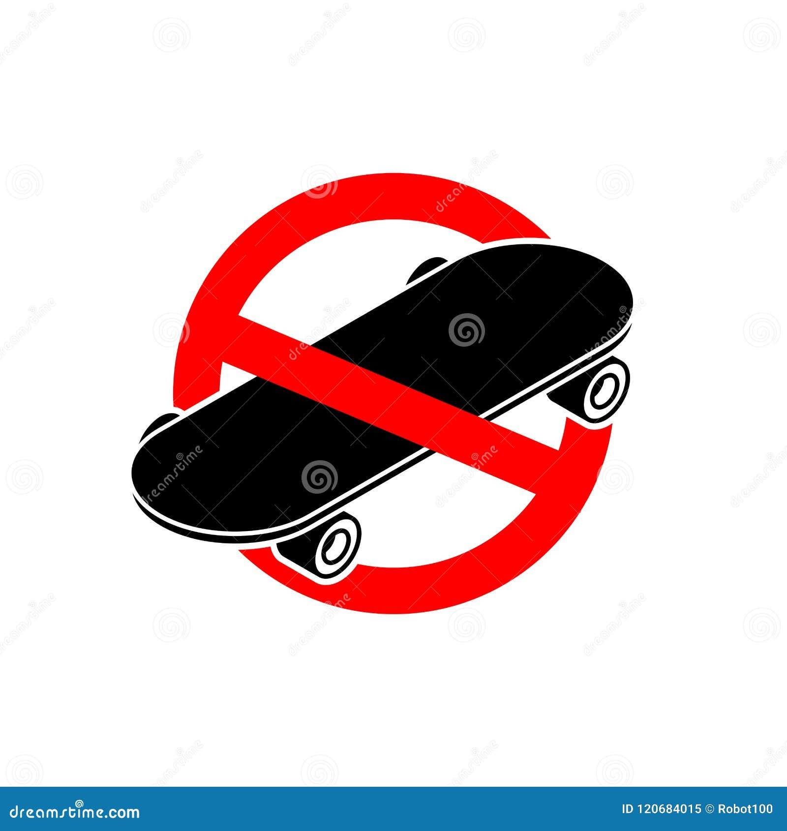 Pare el monopatín Ningún Skateboarding Se prohíbe para montar en BO