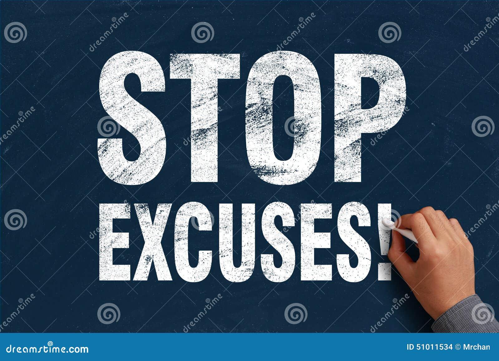 Pare las excusas