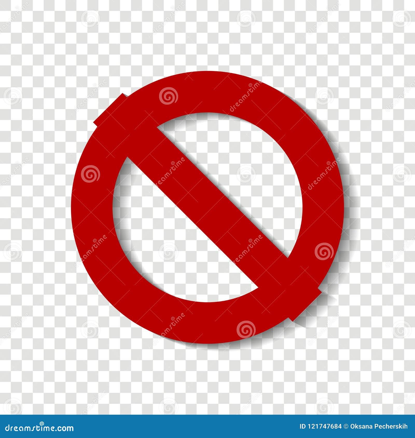 Pare o ícone do vetor O círculo cruzado-para fora Sinal vermelho do batente aviso