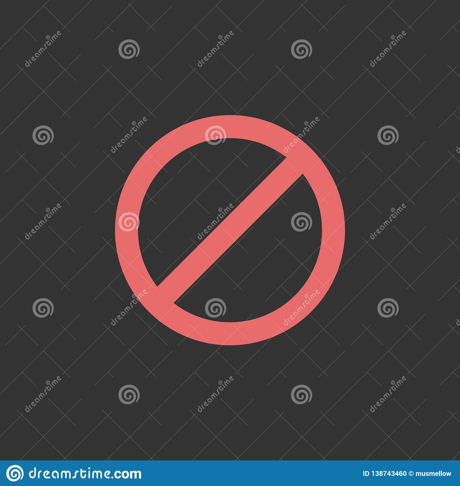 Pare o ícone, não, proibido, proibido