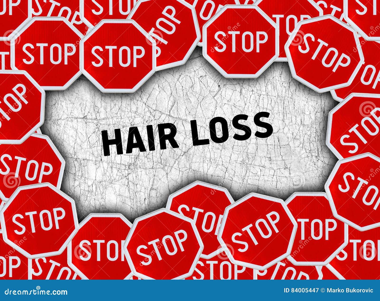 Pare o sinal e exprima a queda de cabelo