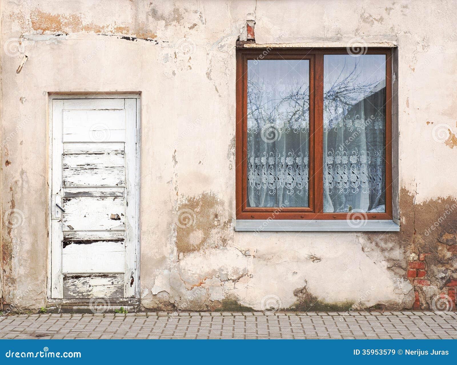 Pared con el fondo de la ventana