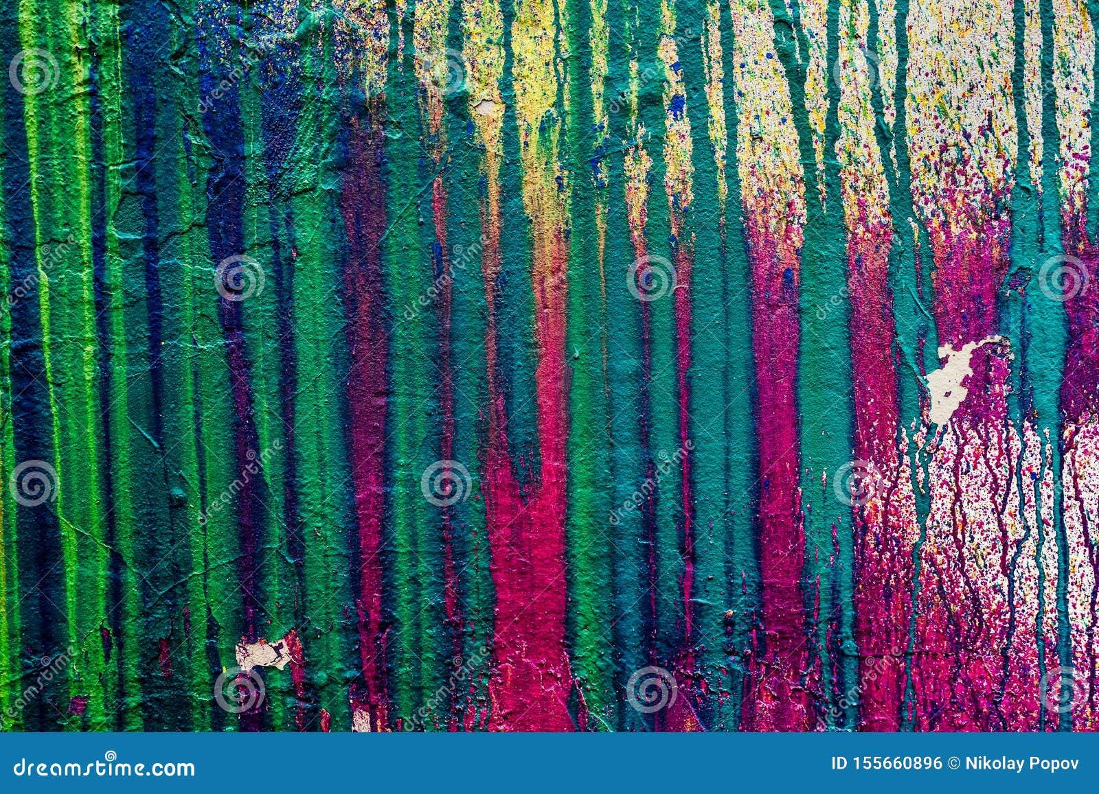 Pared Con Las Manchas De La Pintura Multicolora Foto De Archivo Imagen De Pared Pintura 155660896