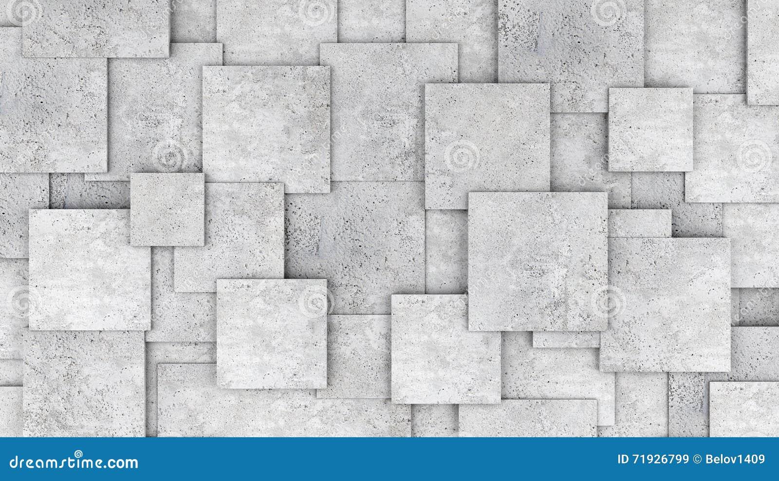 Pared concreta del cubo 3d como fondo o papel pintado