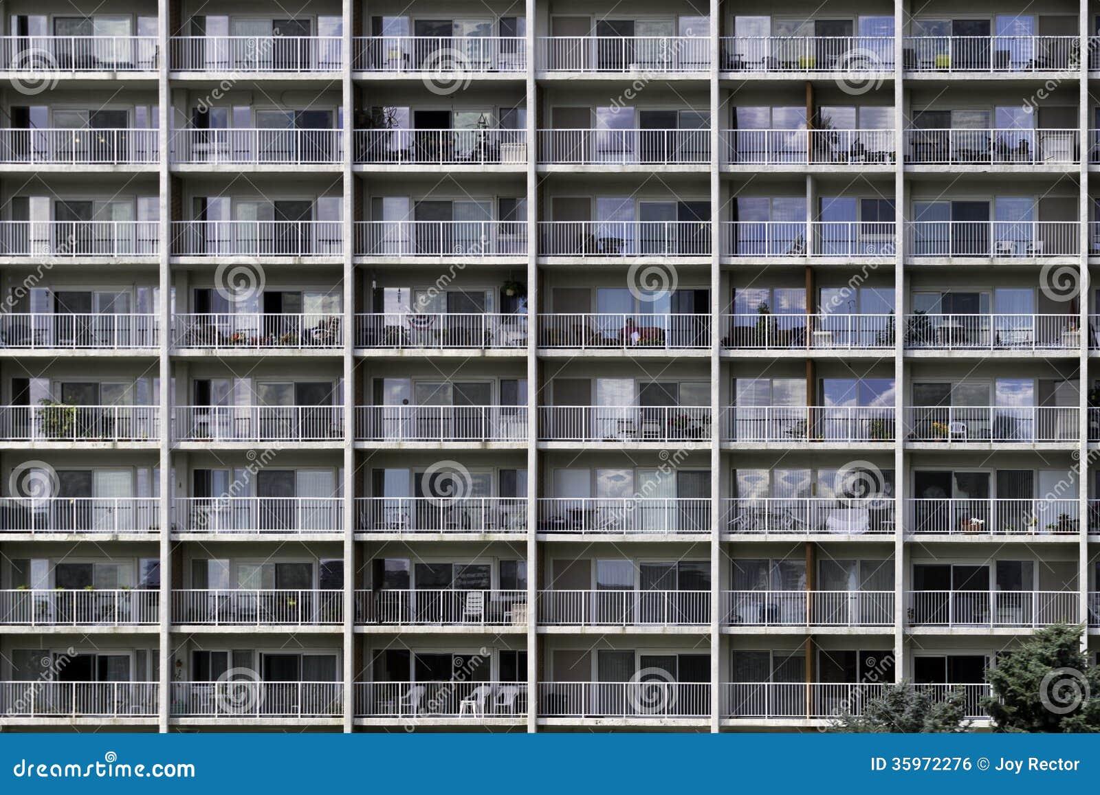 Pared de balcones