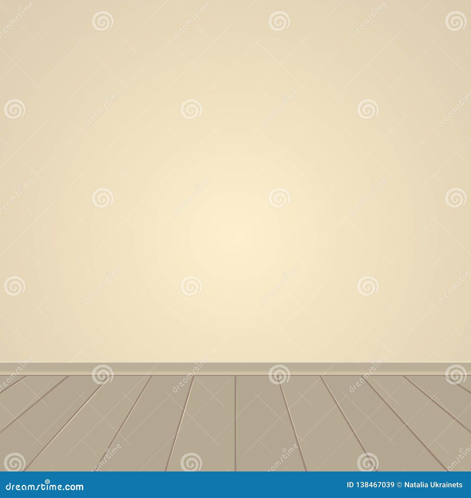 Pared de Brown y piso de madera