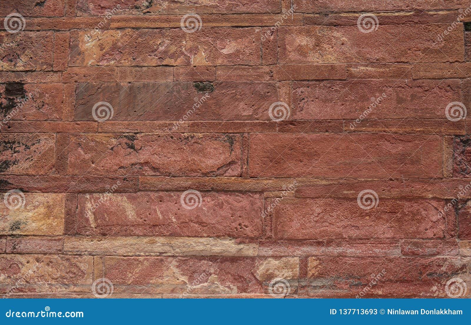 Pared de la piedra arenisca del fuerte antiguo