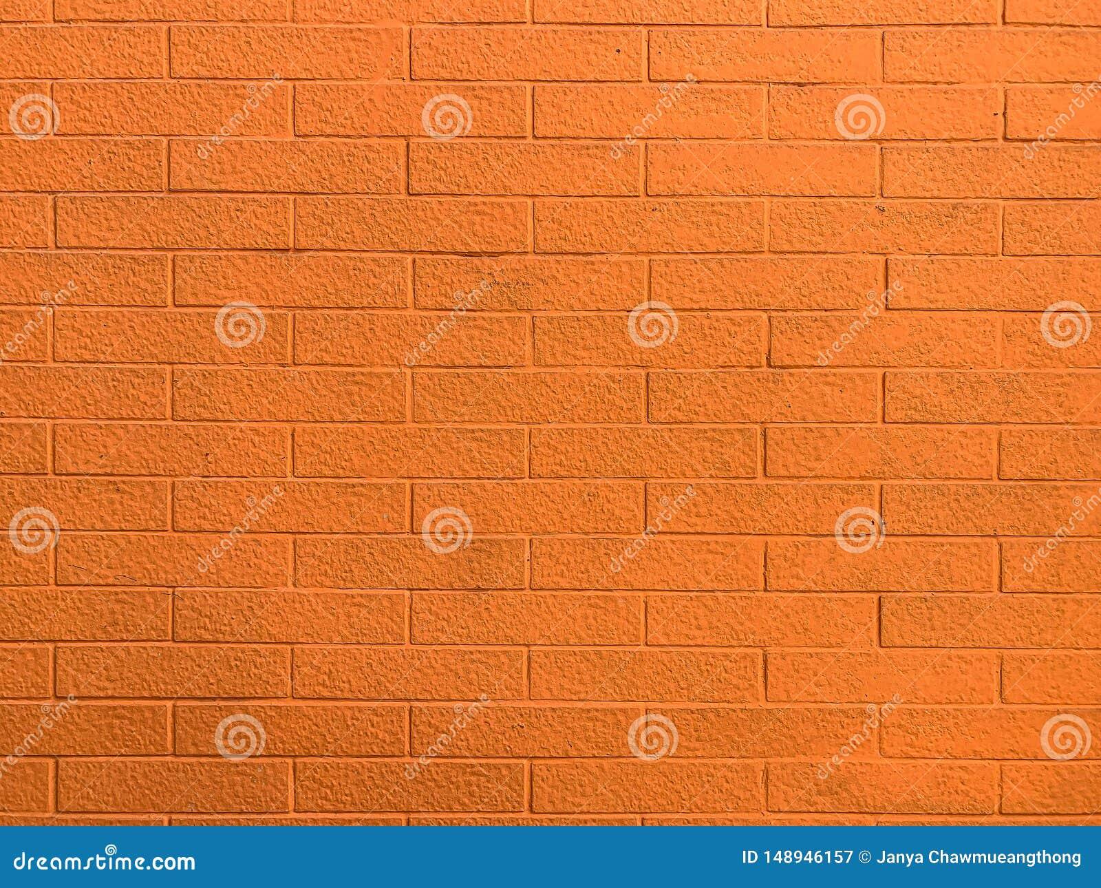 Pared de ladrillo anaranjada