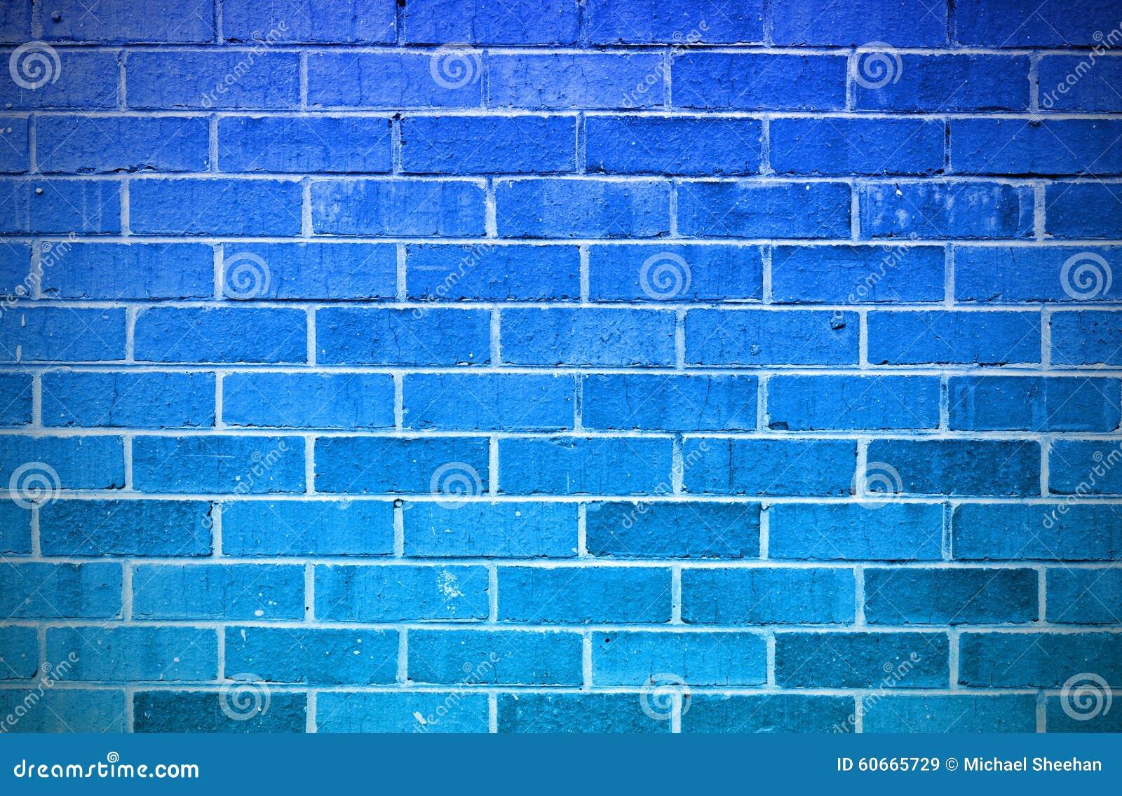 Pared de ladrillo azul imagen de archivo imagen de - Ladrillos de colores ...