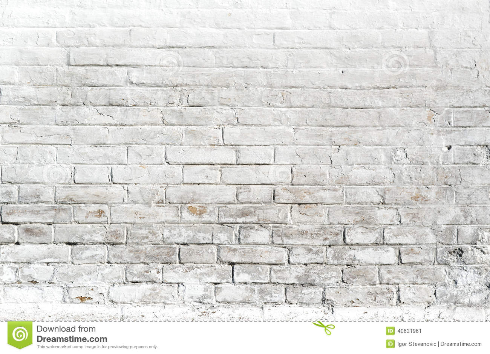 Pared de ladrillo blanca para el fondo o la textura foto - Pared ladrillo blanco ...
