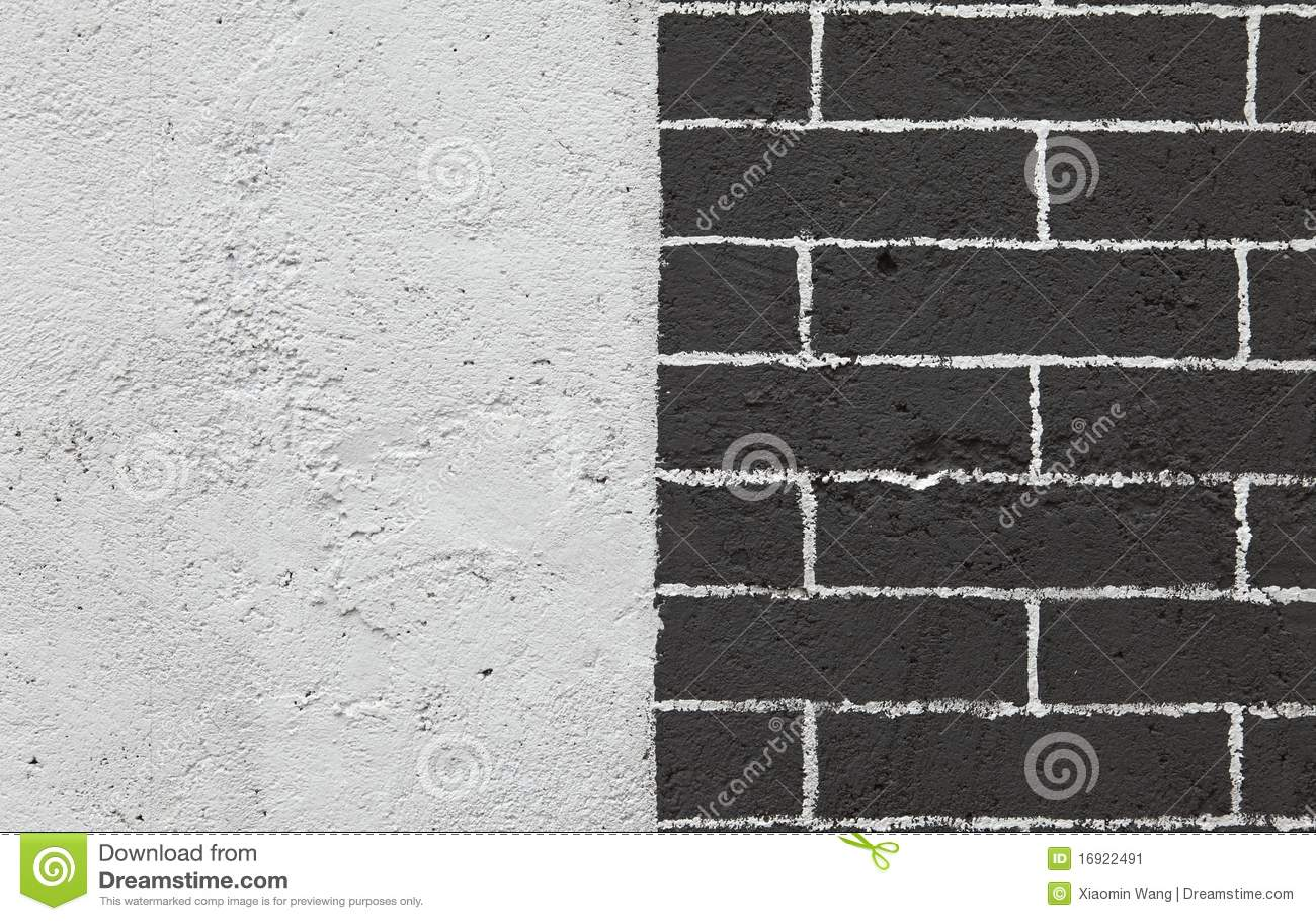 Pared de ladrillo blanco y negro imagen de archivo - Pared ladrillo blanco ...