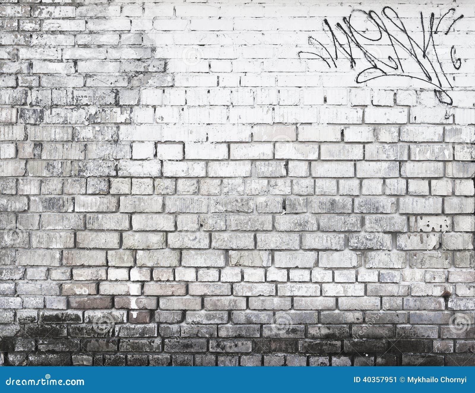 Pared de ladrillo en blanco y negro foto de archivo - Pared ladrillo blanco ...