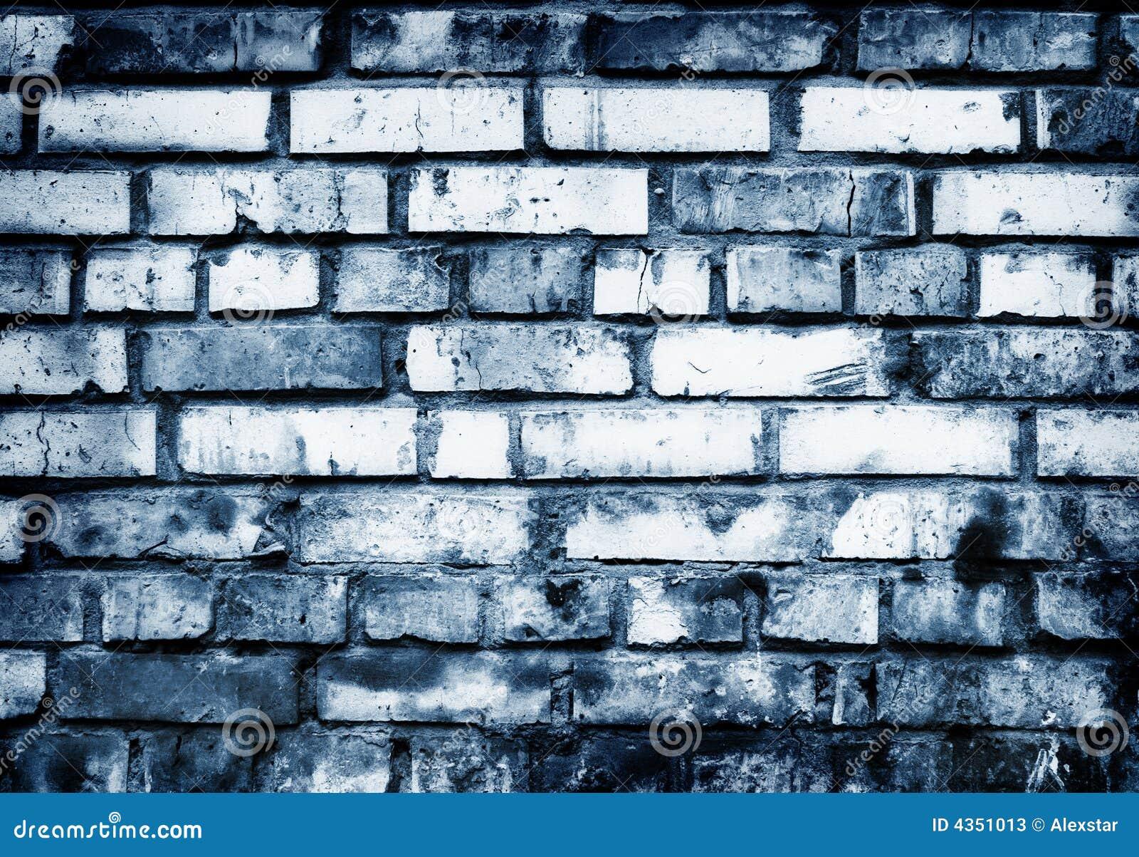 Pared de ladrillo en tonos azules imagen de archivo - Pared de ladrillo ...
