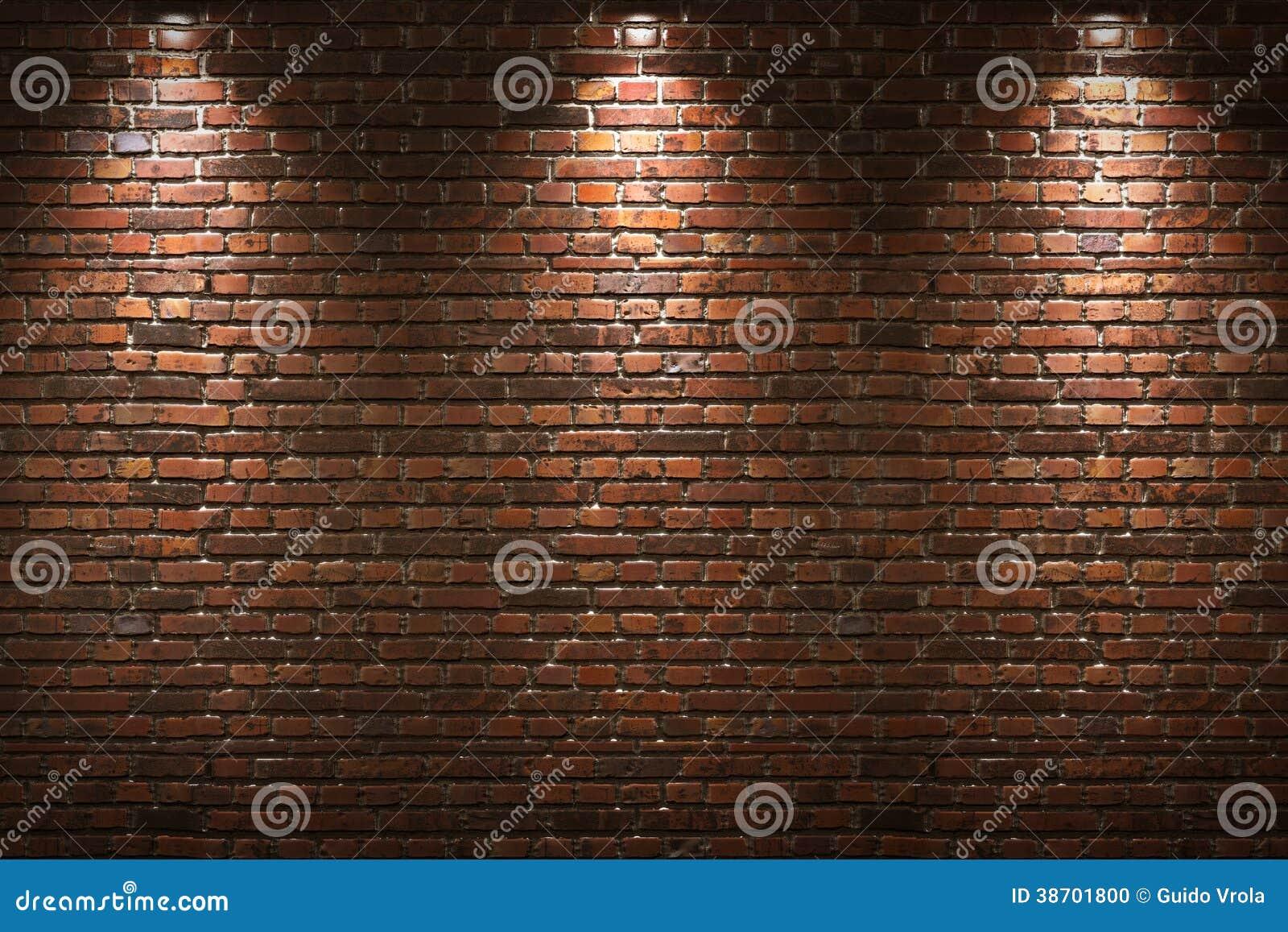 Pared de ladrillo iluminada foto de archivo imagen 38701800 - Pared de ladrillo ...
