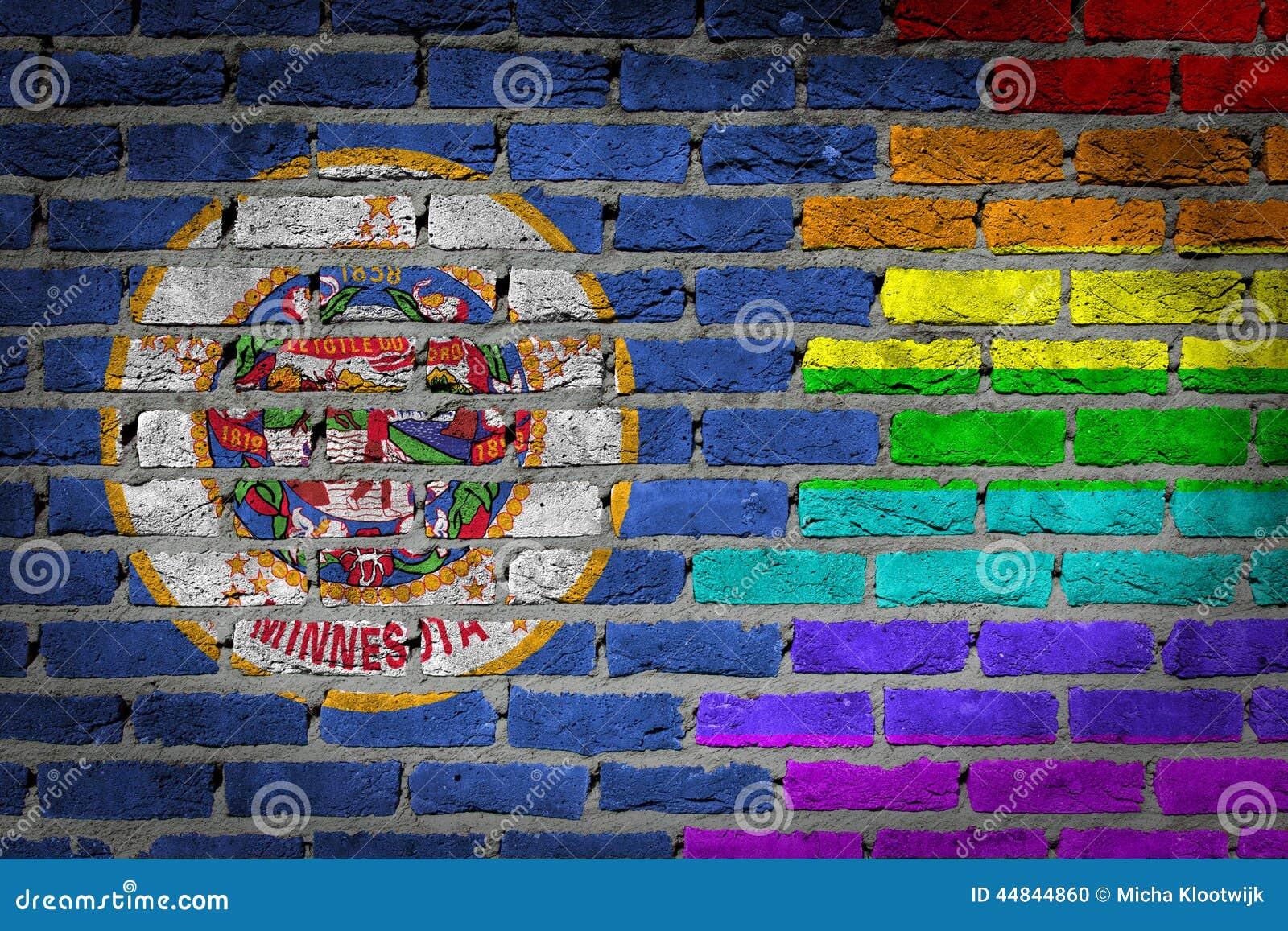 Pared De Ladrillo Oscura - Las Derechas De LGBT - Minnesota Foto de ...