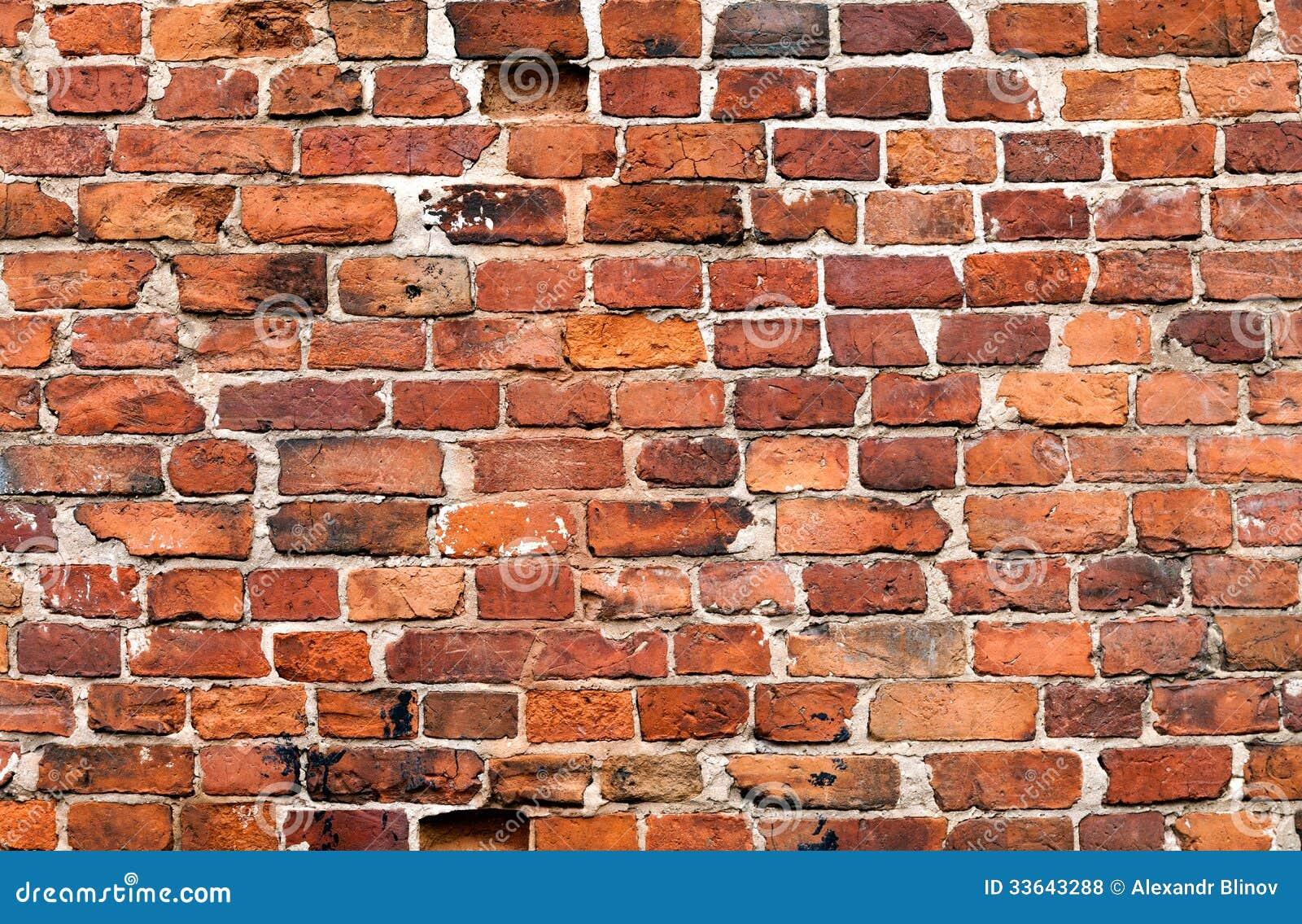 Pared de ladrillo resistida vieja del rojo del grunge foto - Ladrillos para pared ...