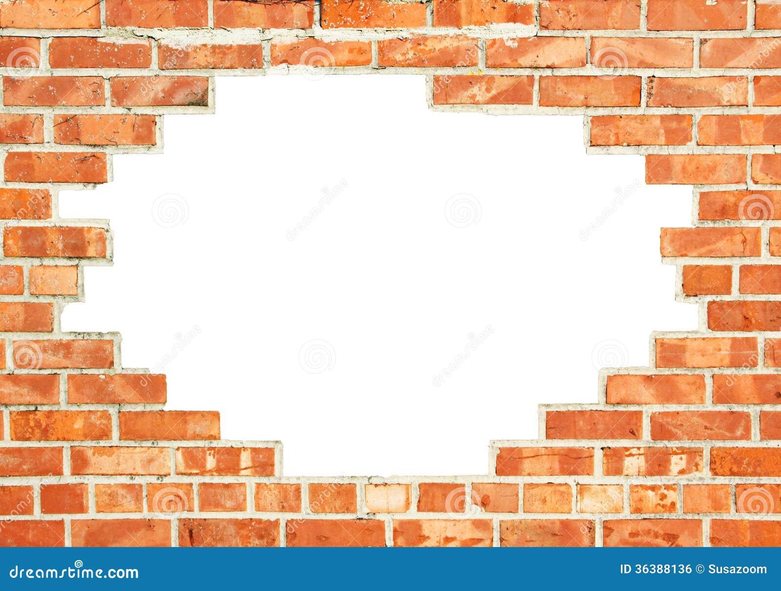 Pared de ladrillo roja con hueco imagen de archivo libre - Ladrillos para pared ...