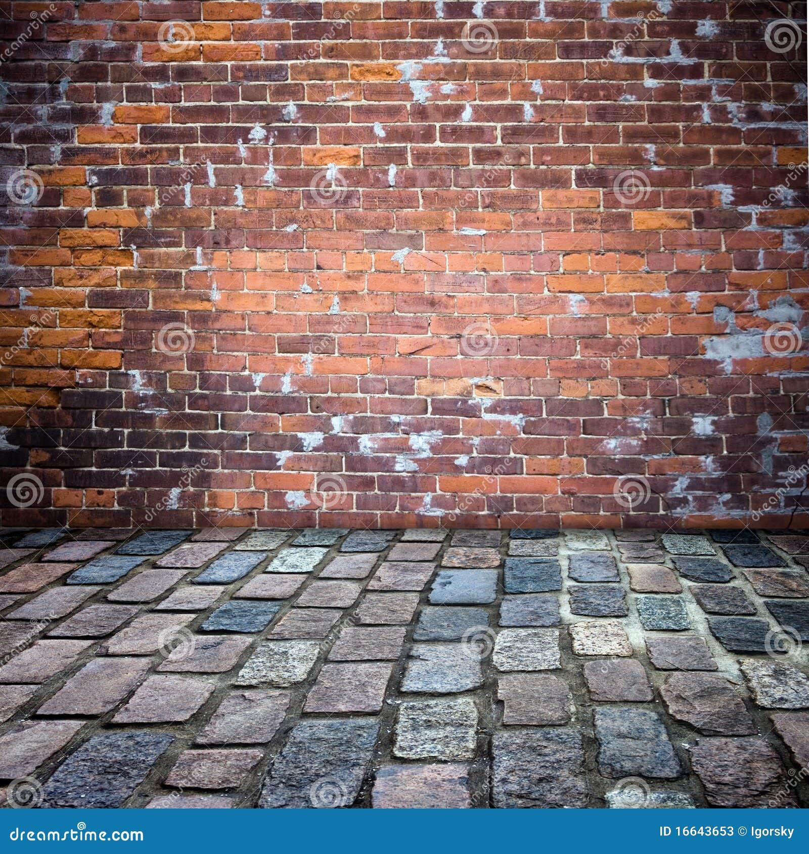 Pared de ladrillo y patio imagen de archivo imagen de - Ladrillos para pared ...