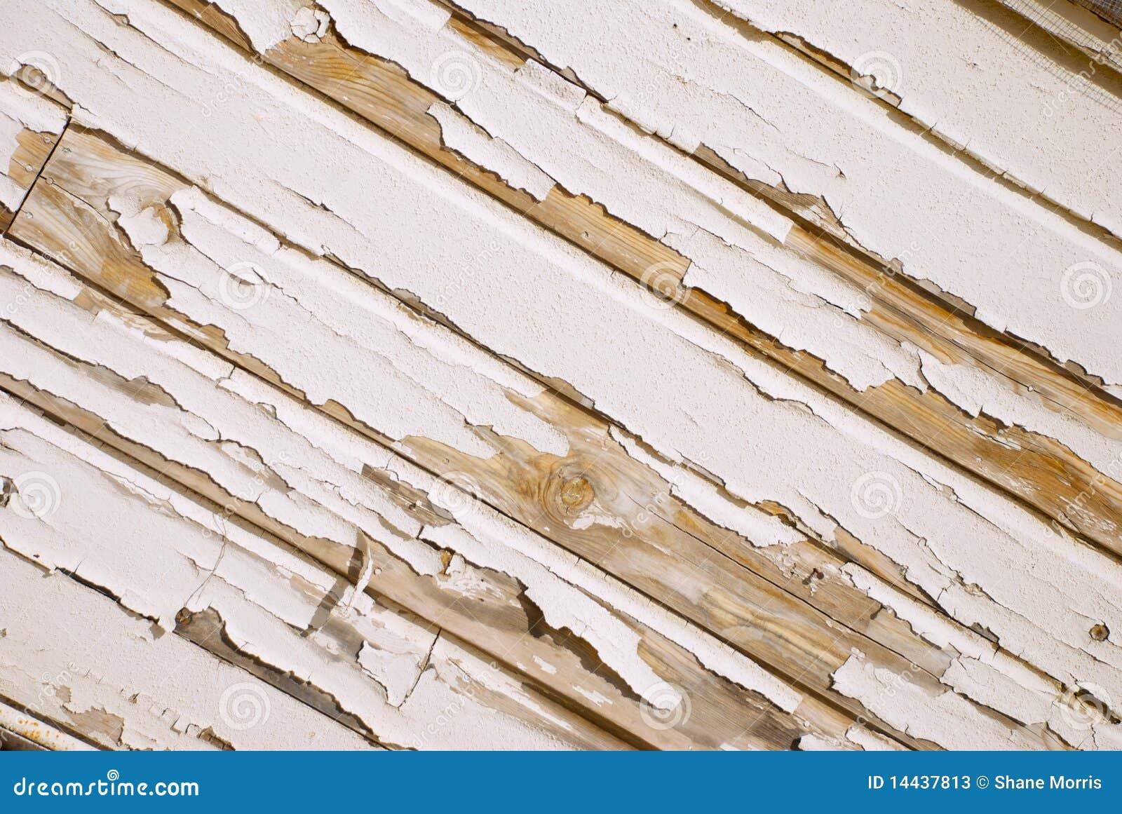 Pared de madera vieja con la pintura blanca agrietada en - Pintura blanca para madera ...