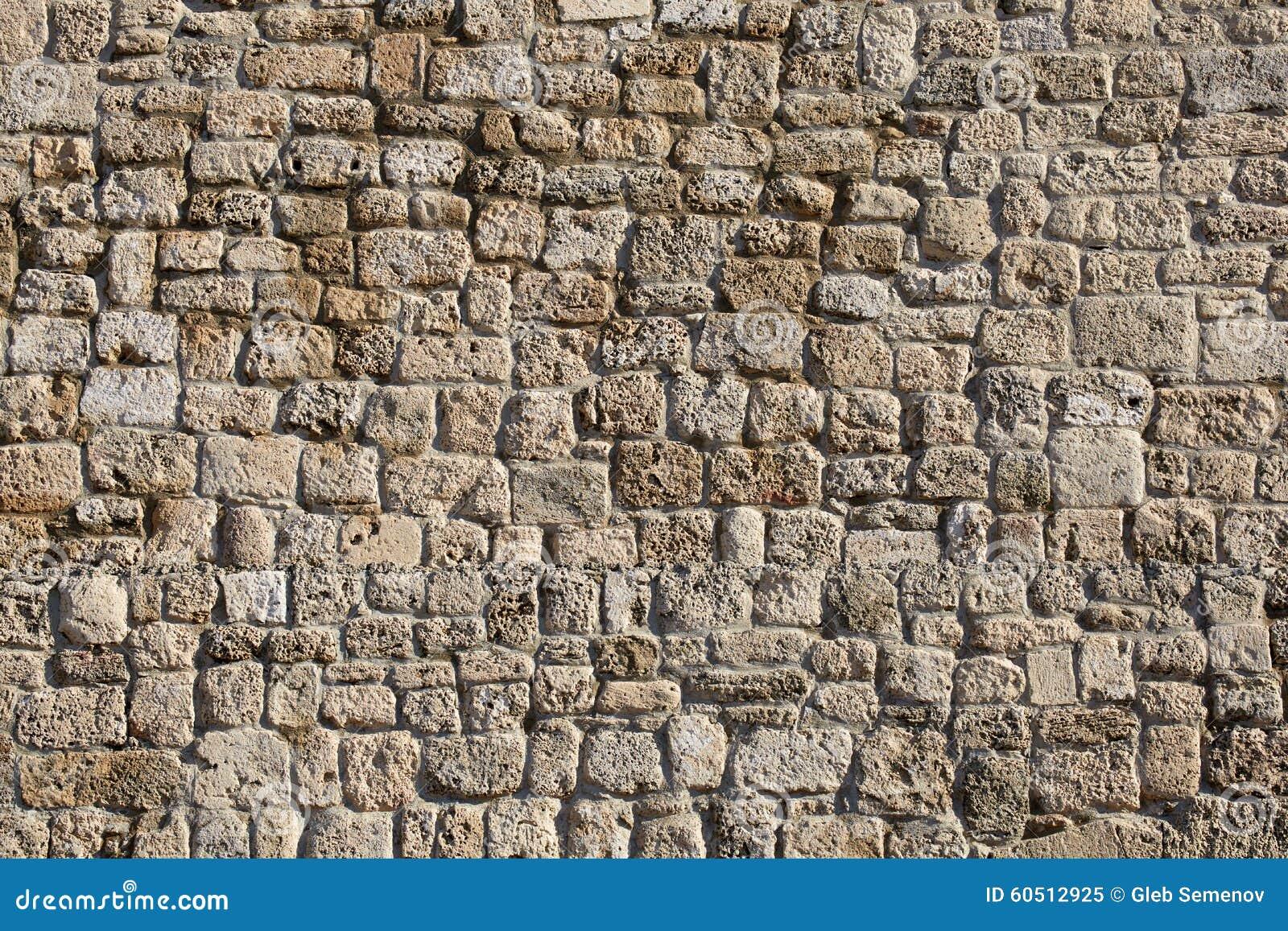 Pared de piedra antigua del anfiteatro