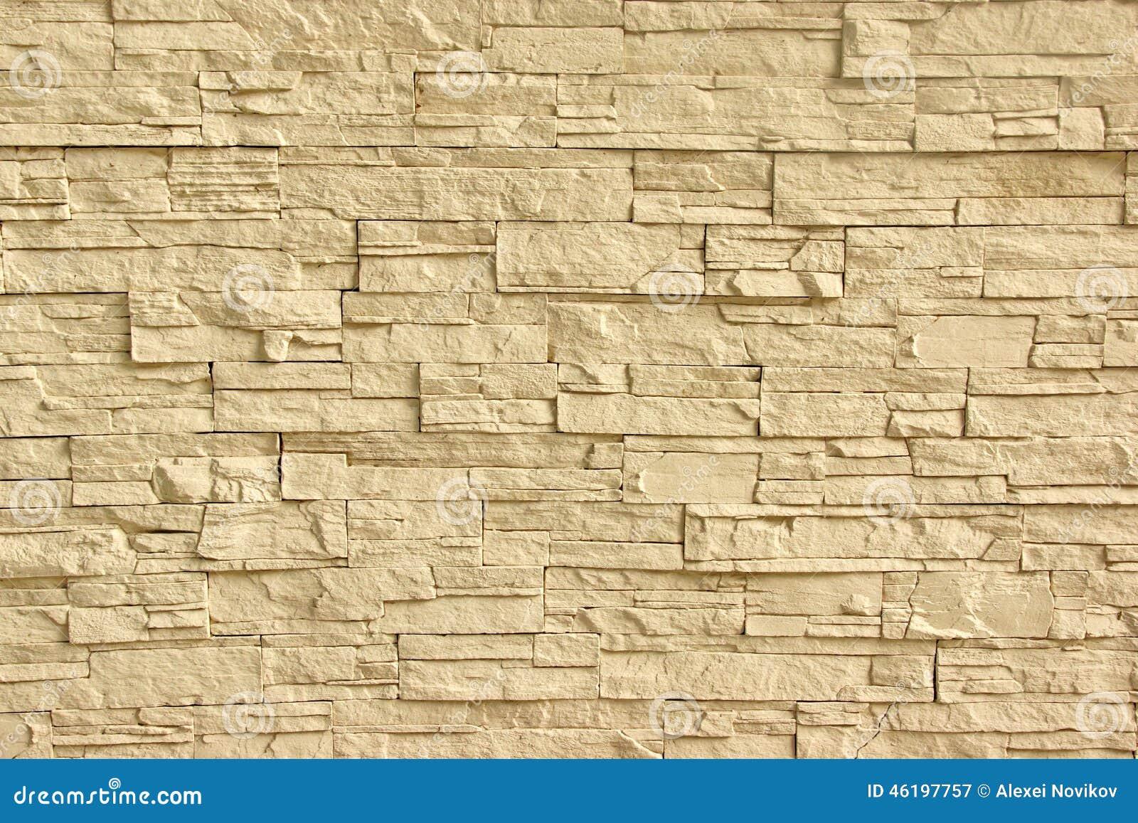 Pared de piedra artificial beige foto de archivo imagen - Pared de piedra ...