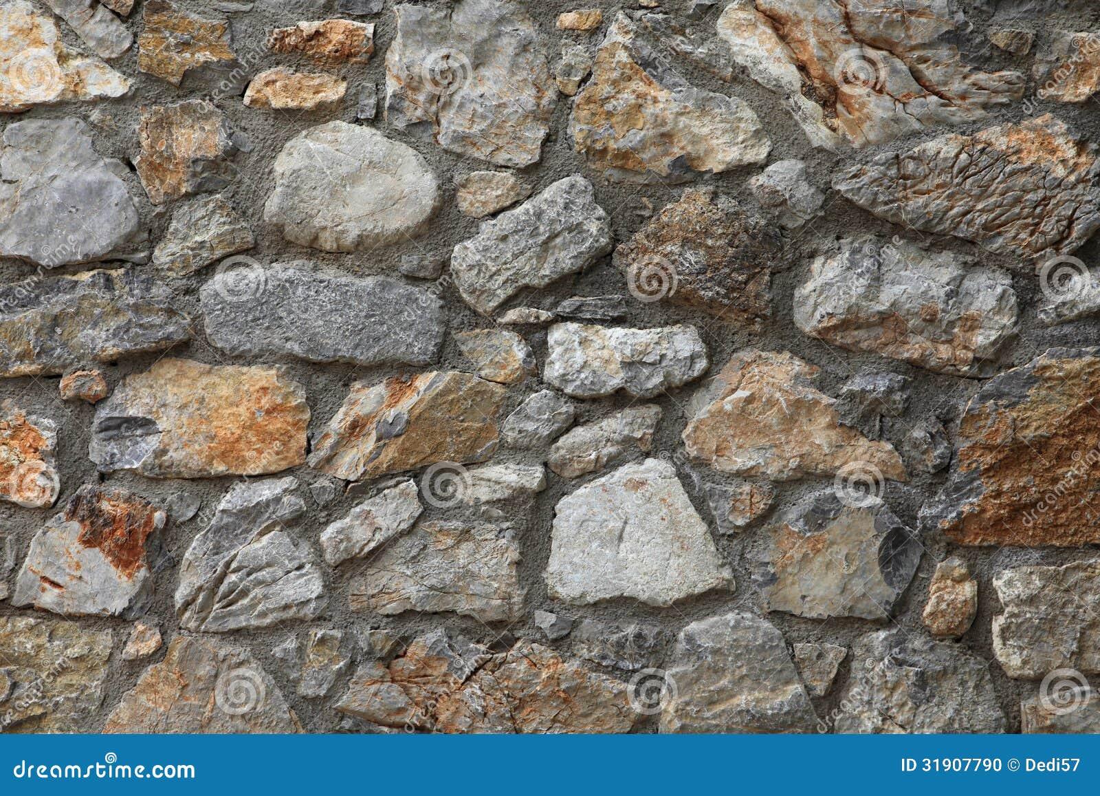 Pared de piedra natural r stica foto de archivo imagen - Paredes de piedra natural ...