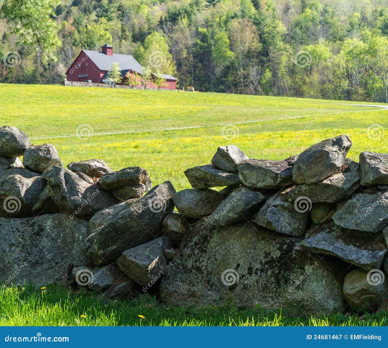 Pared de piedra vieja