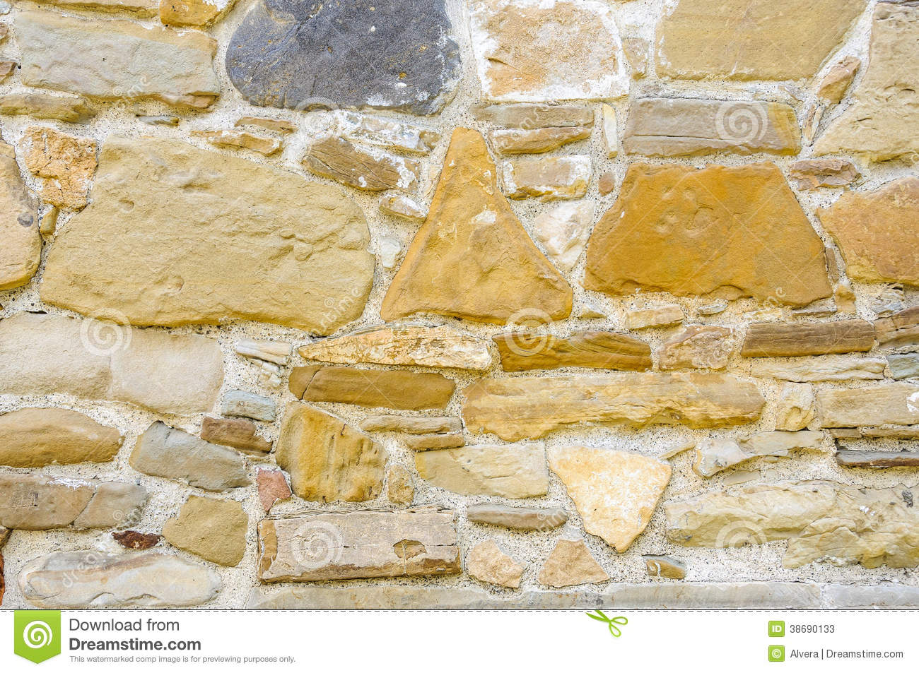 Fotos de archivo restored old stone wall imagen 38690133 for Papel para pared imitacion piedra