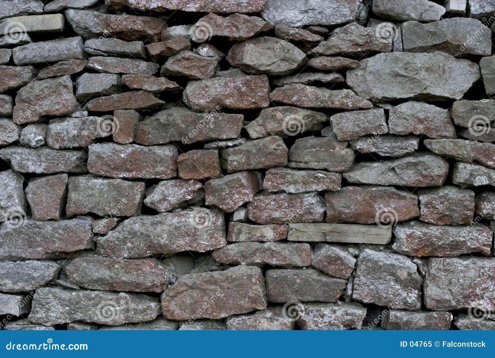 Pared Drystone - piedra caliza
