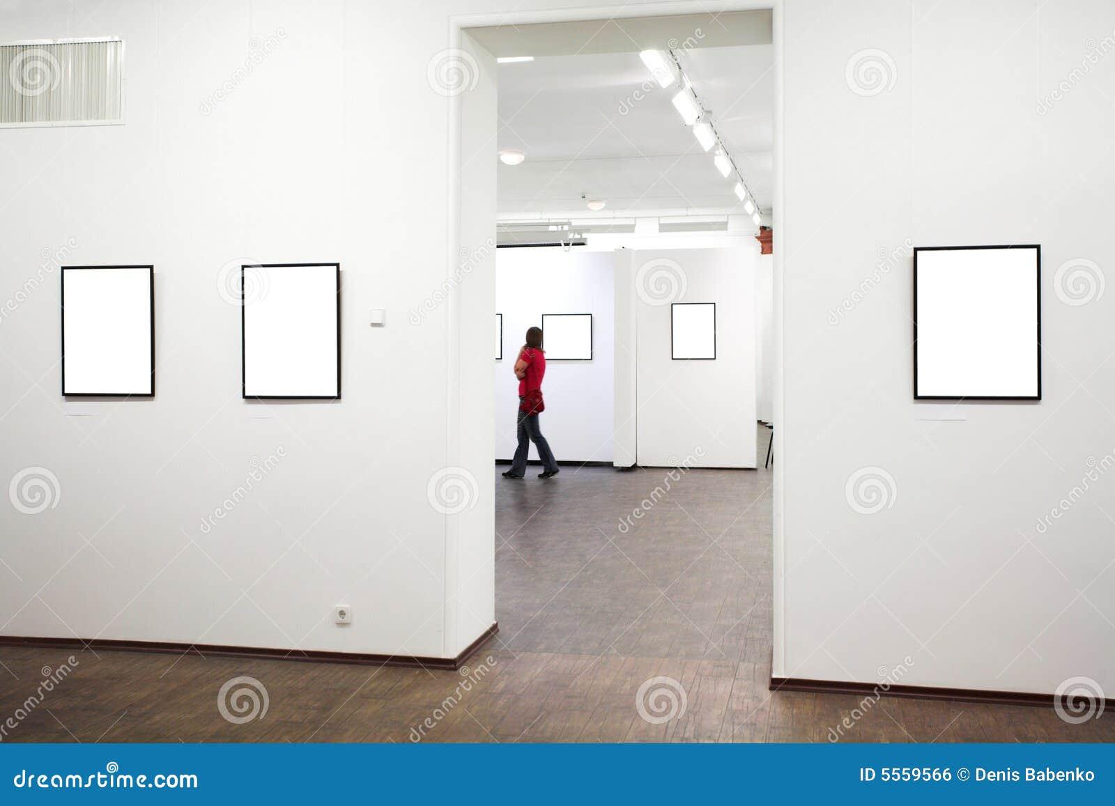 Pared En Museo Con Los Marcos Foto de archivo - Imagen de colección ...