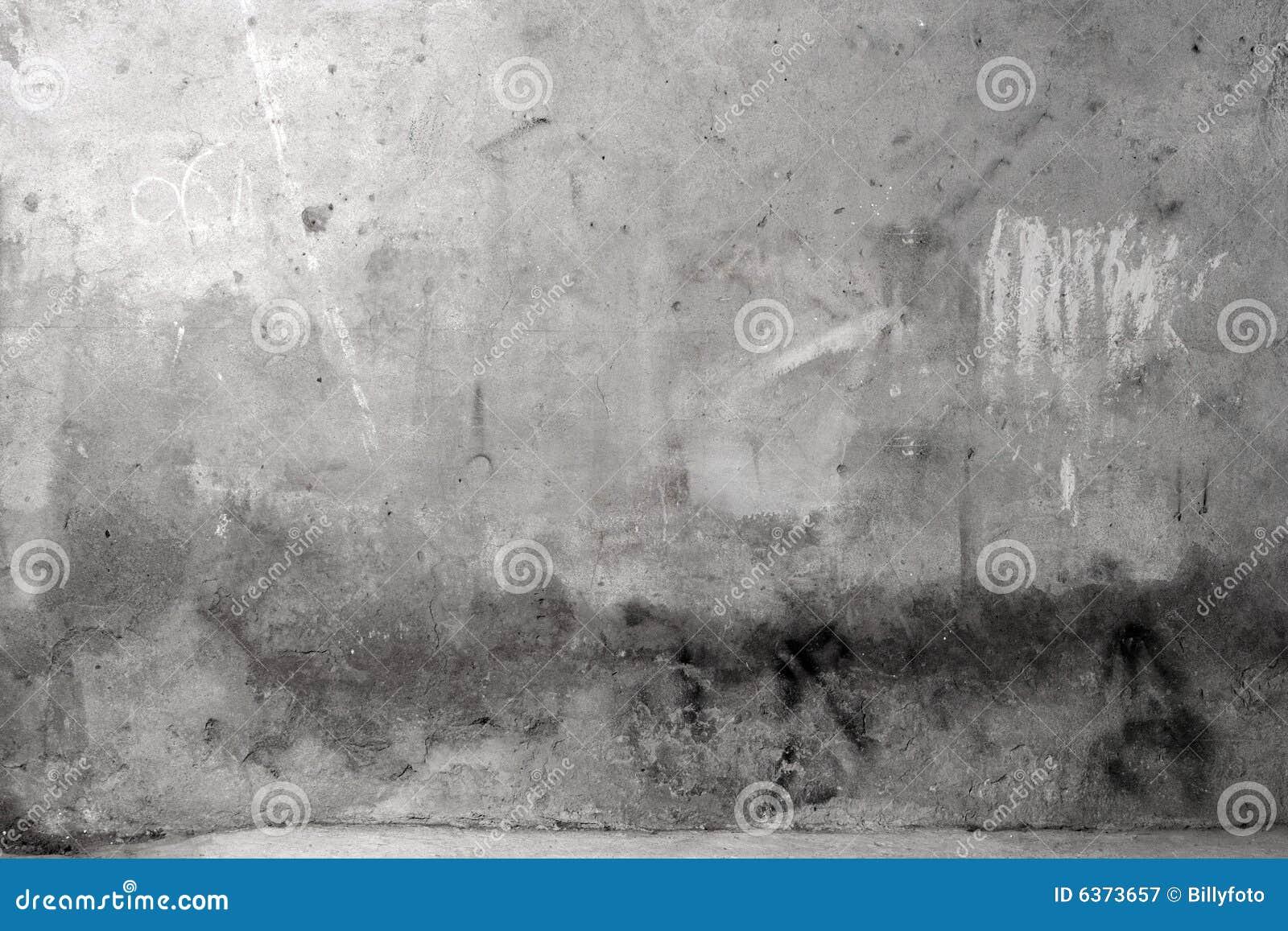 Pared gris del cemento de Grunge