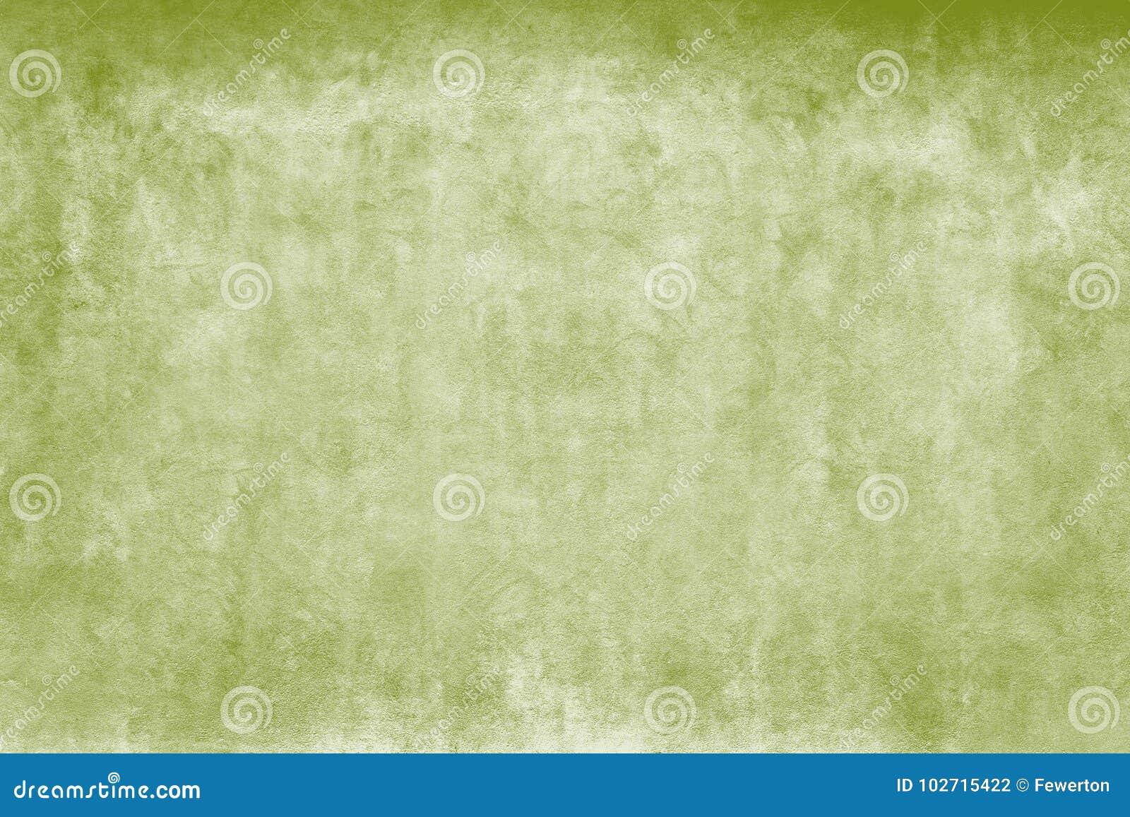 Pared gruesa resistida de la fachada de las acuarelas verdes y blancas como fondo rústico vacío