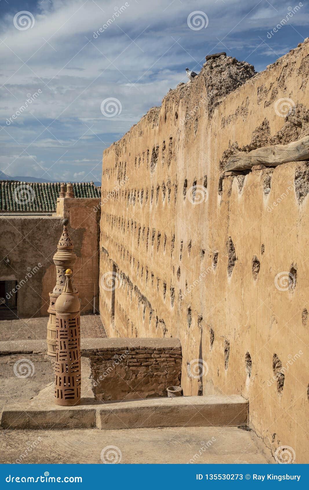Pared marroquí del riad en Tamesloht Marruecos