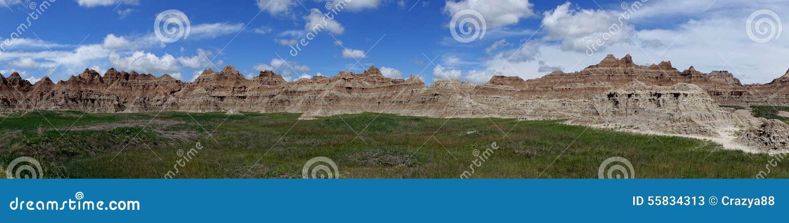 Pared, parque nacional de los Badlands, SD