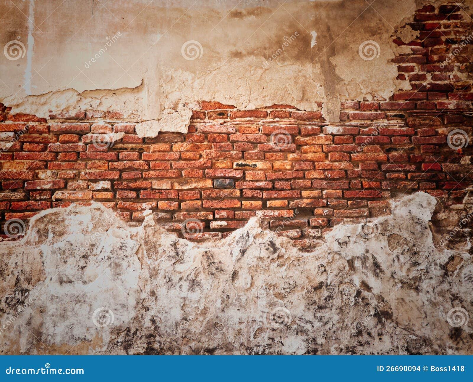 Pared rota vieja foto de archivo imagen de arcilla - Imagenes para paredes ...