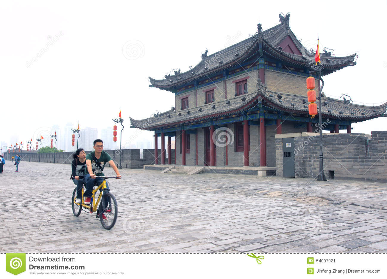 Parede antiga da cidade de Xi an