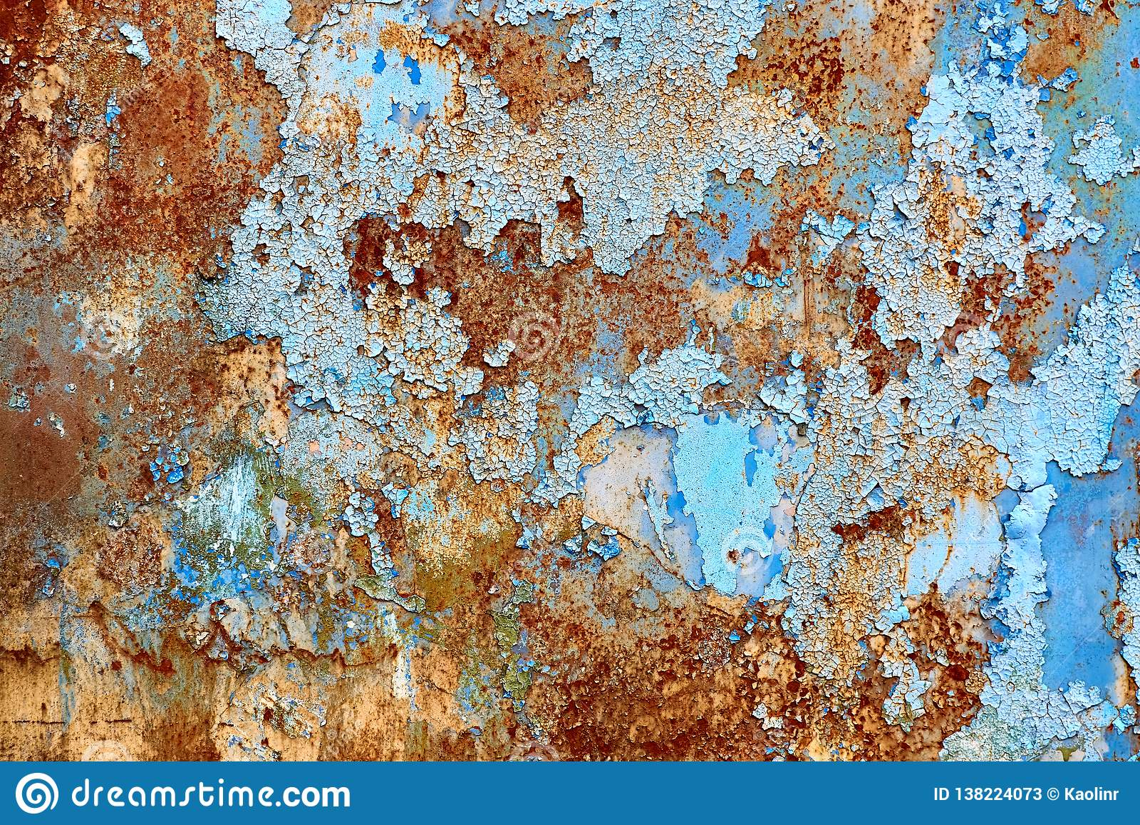 Parede azul oxidada Fundo pintado rachado