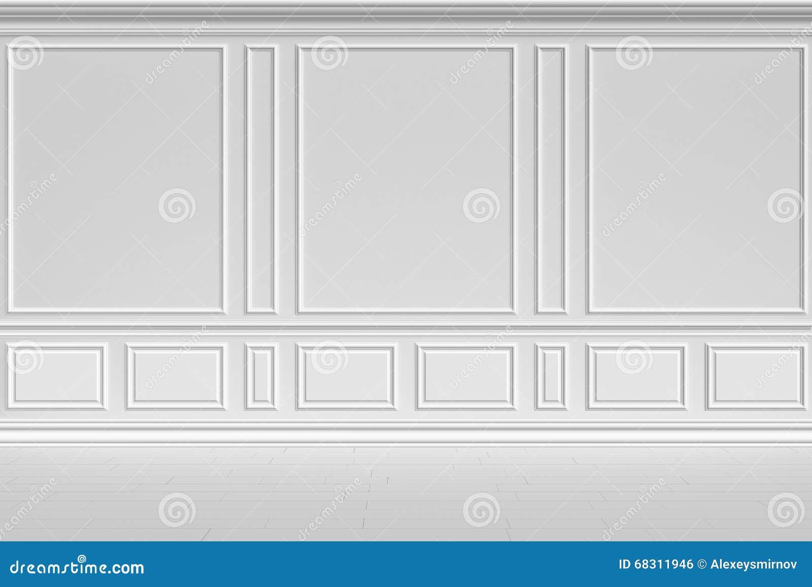 Parede branca no estilo clássico