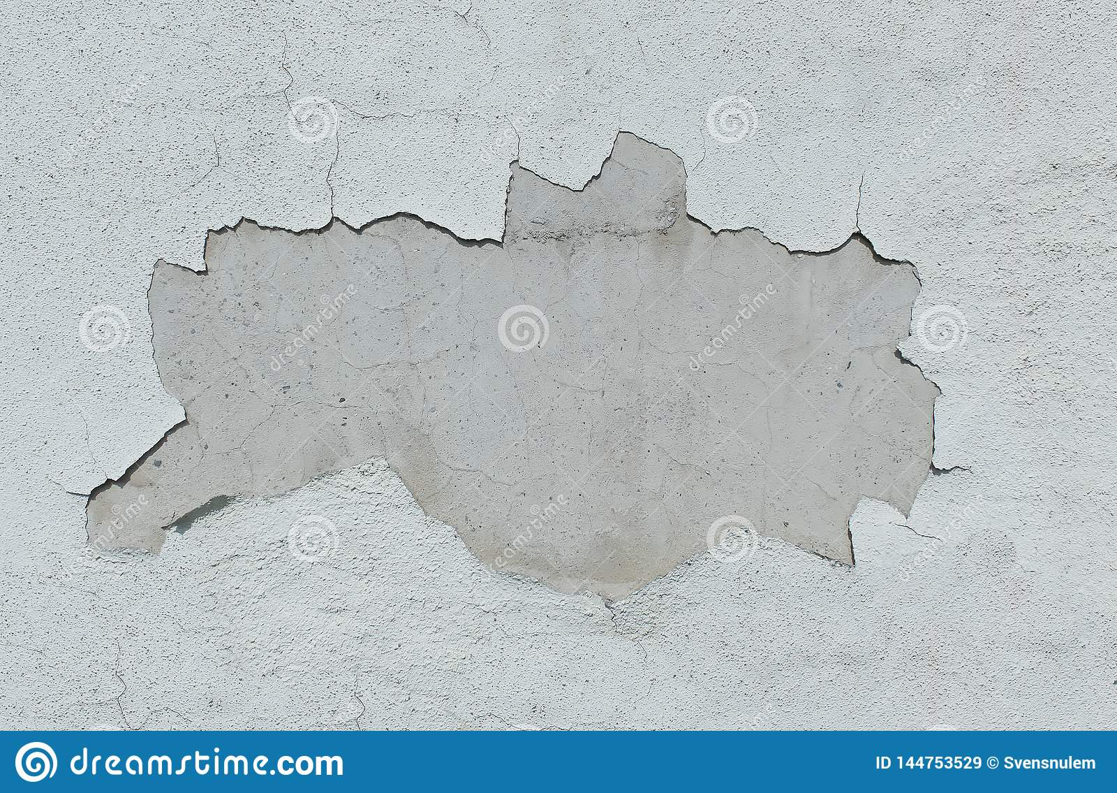 Parede branca velha com caído o emplastro