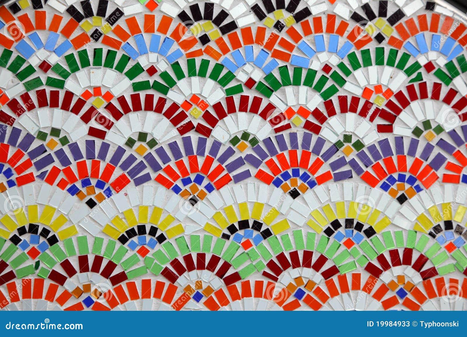 parede colorida do mosaico fotografou em Istambul, Turquia.