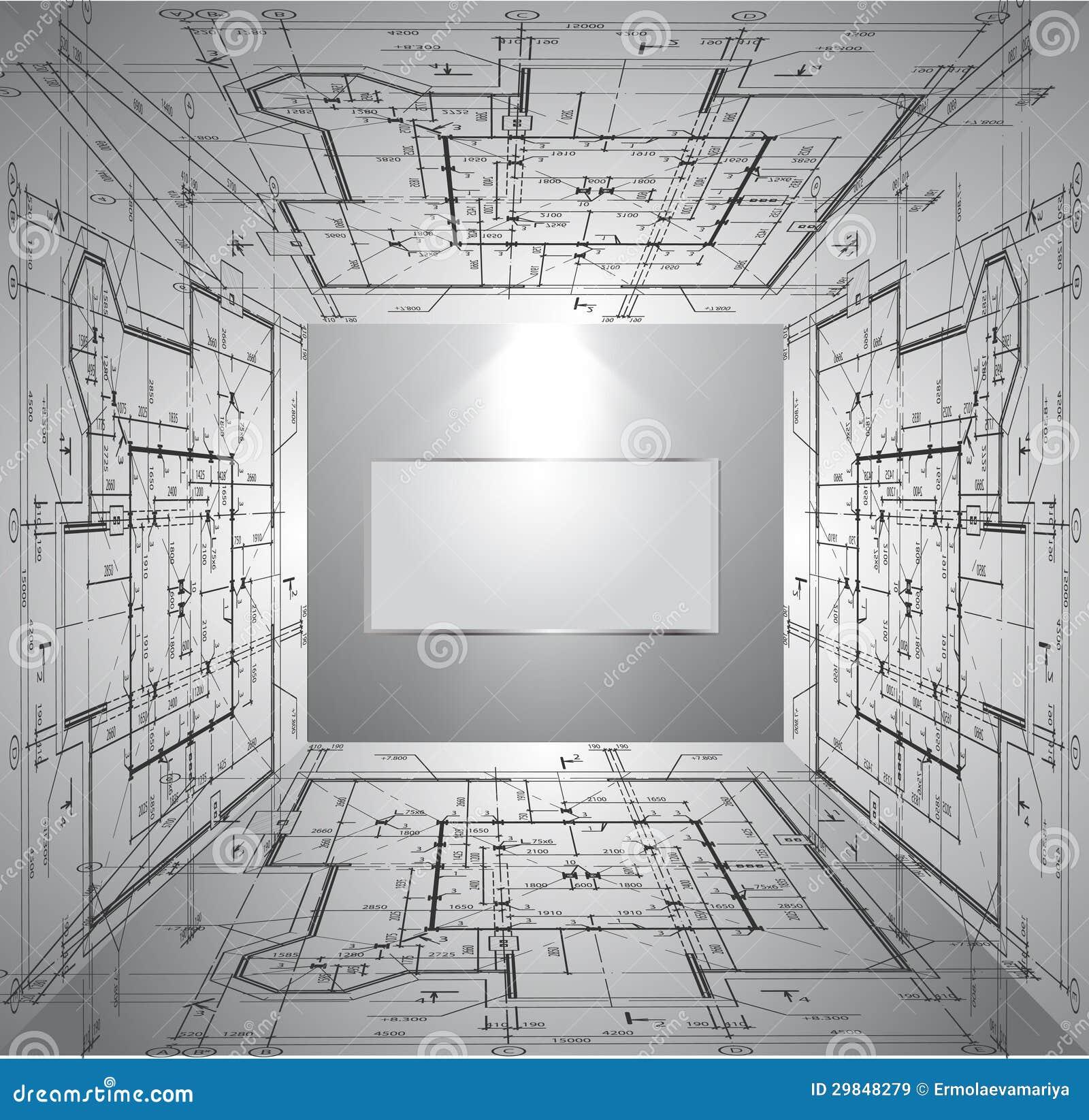 Parede com modelo e luz do papel de parede. Vetor