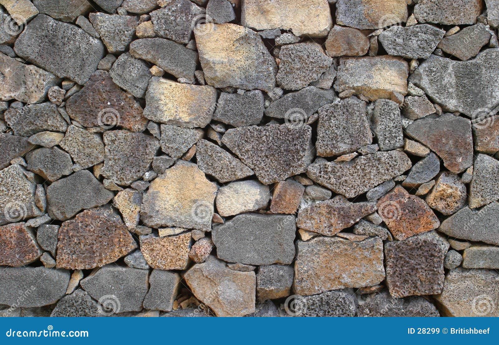 Parede da rocha vulcânica
