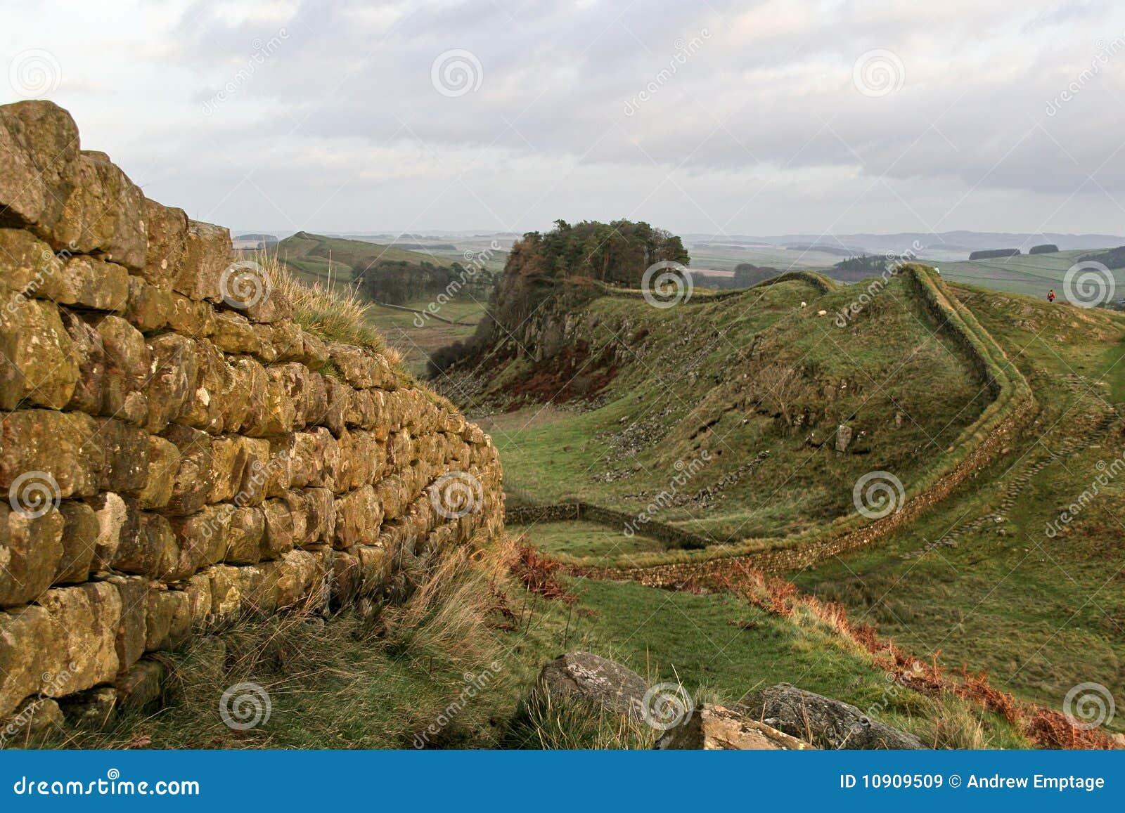 Parede de Hadrians, perto de Housesteads