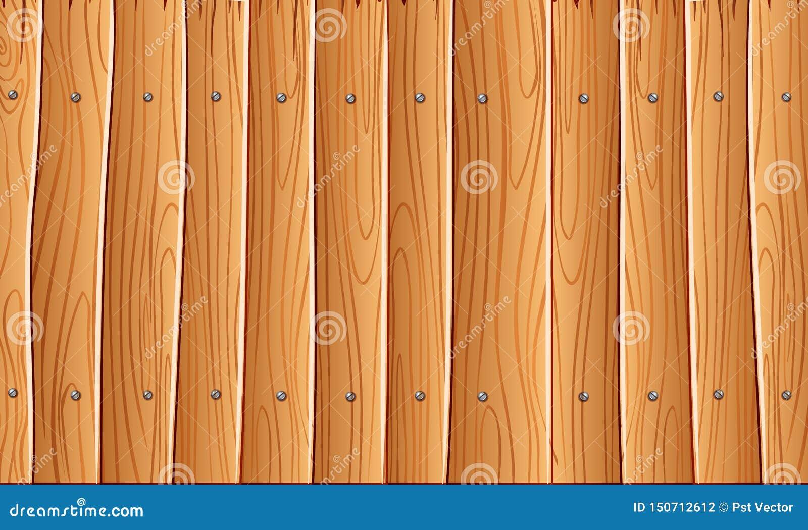 Parede de madeira, fundo de madeira amarelo alaranjado da textura da parede para o projeto gráfico, vetor