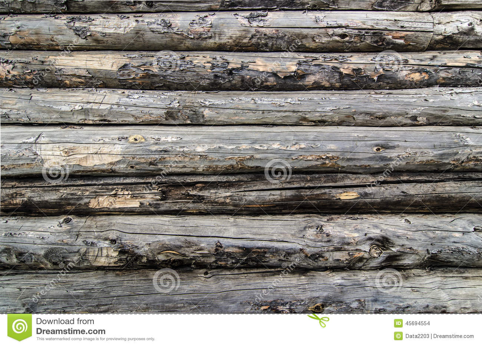 Parede de madeira velha dos logs