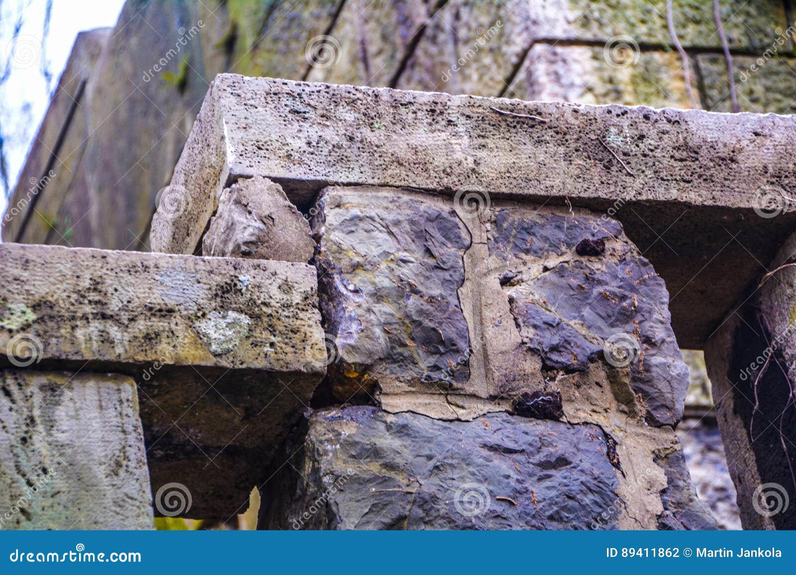 Parede de pedra velha