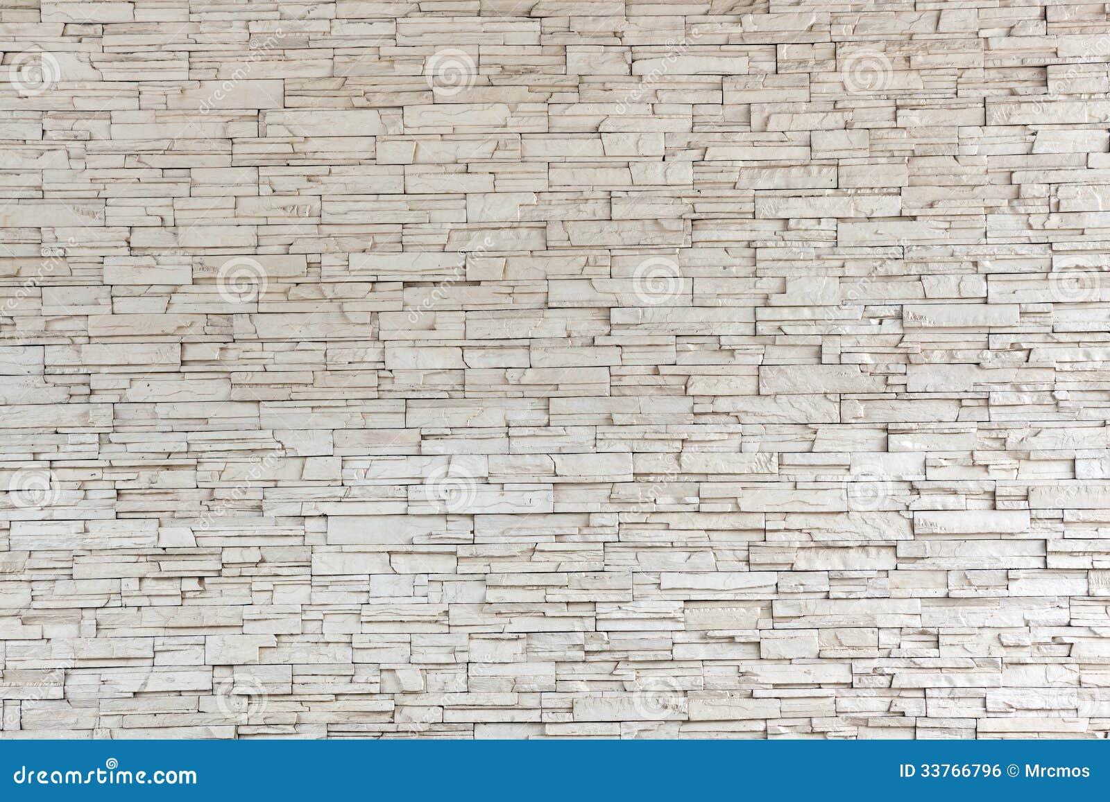 Parede de tijolo de pedra branca da textura da telha