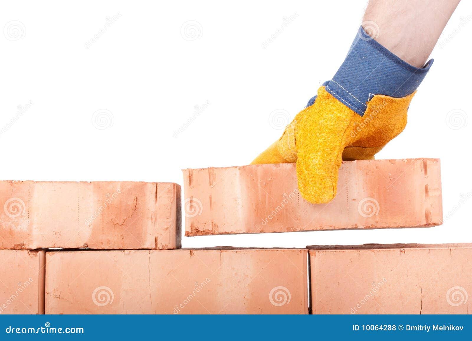Parede de tijolo do edifício